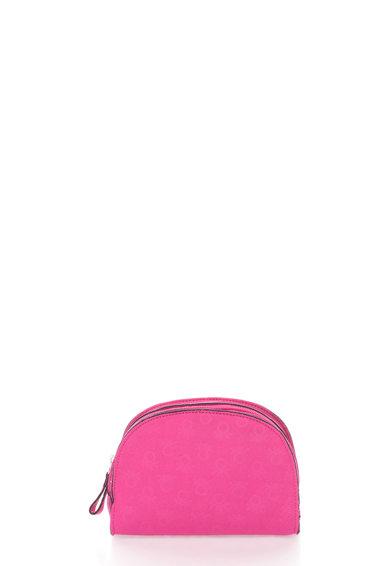 Geanta roz pentru cosmetice cu logo de la Undercolors of Benetton