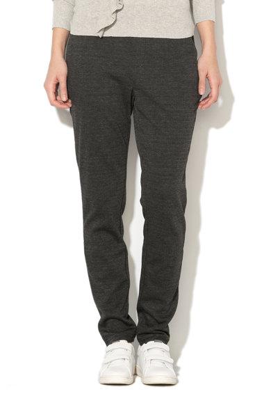 Pantaloni gri inchis cu model herringbone Elissa de la Vero Moda