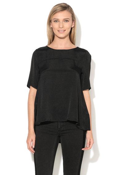 Bluza neagra cu maneci scurte Filter de la Vila