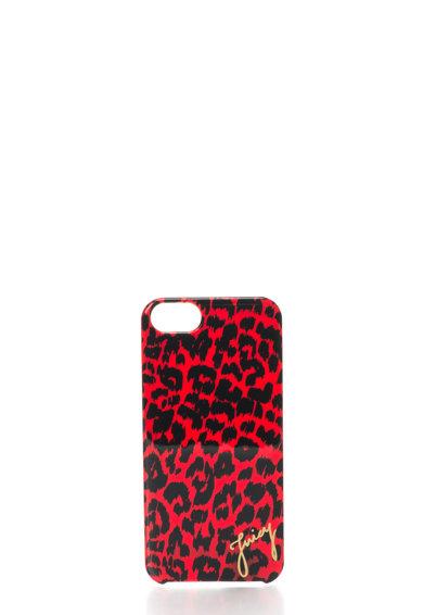 Carcasa pentru iPhone 5/5S rosie cu animal print de la Juicy Couture