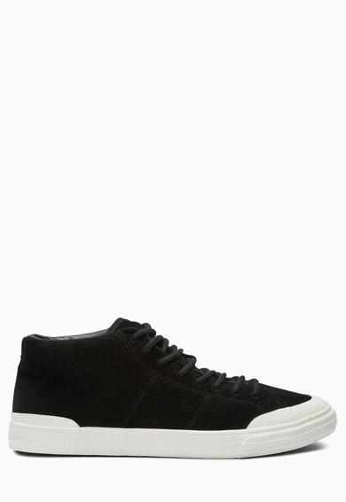 Pantofi sport mid-high negri de piele intoarsa de la NEXT