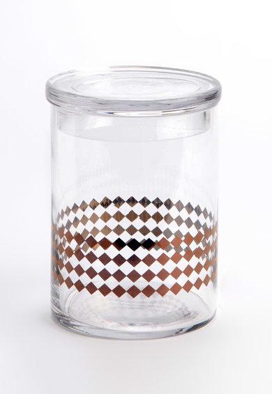 Borcan alb transparent pentru bomboane Copper - 1500 ml