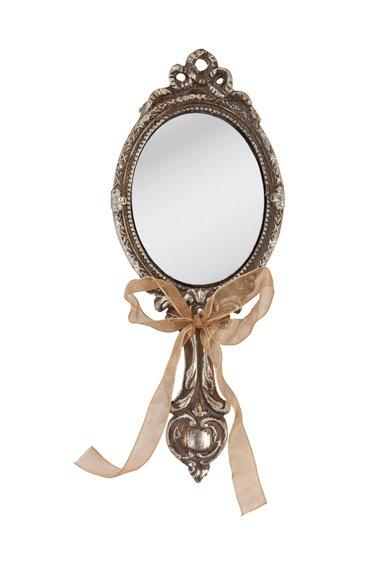 Oglinda argintiu antichizat cu maner de la Clayre  Eef