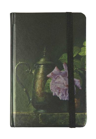 Carnetel negru si verde inchis cu trandafiri de la Clayre  Eef