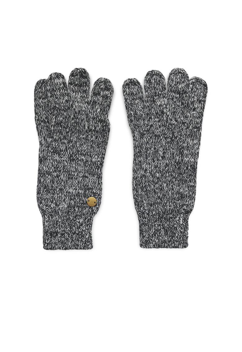 Manusi tricotate cu mansete striate de la Esprit