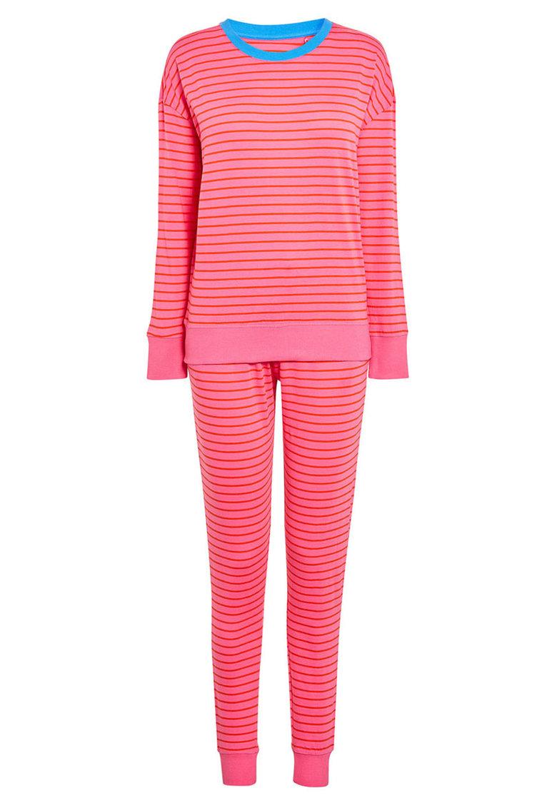 Pijama in dungi cu mansete si terminatie elastice de la NEXT