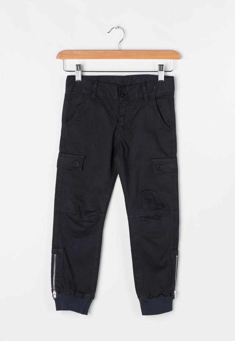 Zee Lane Kids Pantaloni cargo bleumarin inchis cu mansete striate