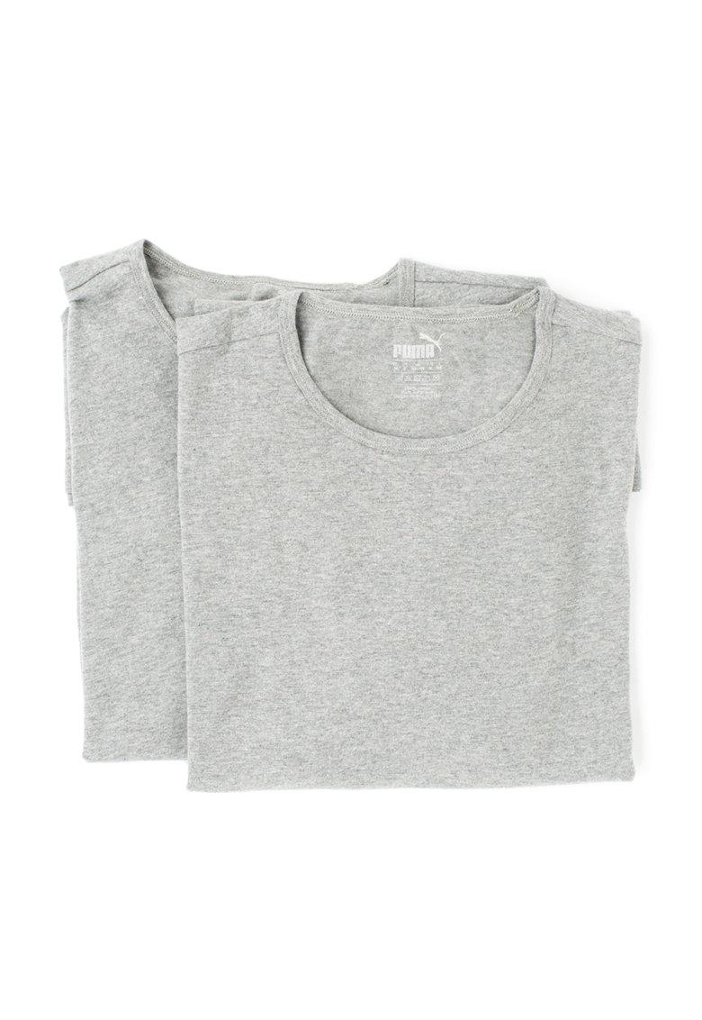 Puma Set de tricouri regular fit gri melange – 2 piese