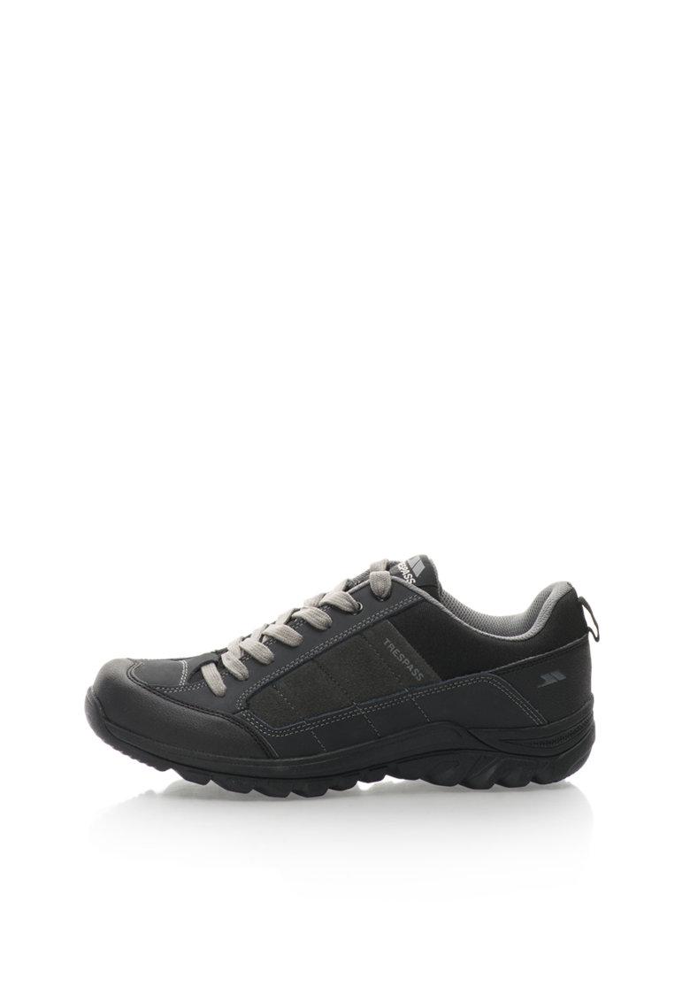 Pantofi Trekking Gri Antracit Cu Negru Mearns
