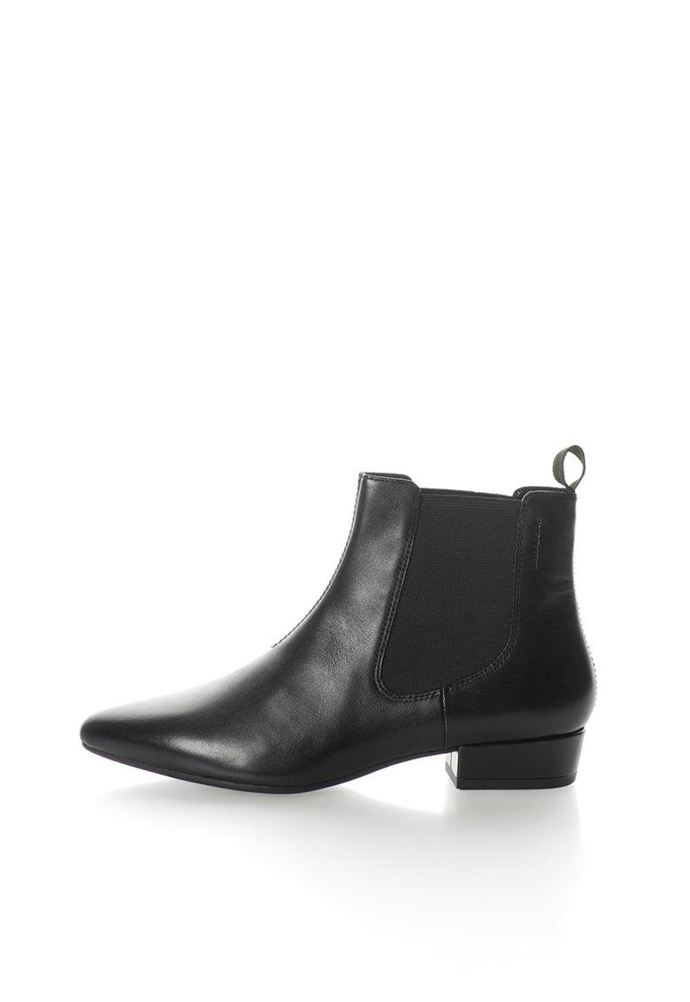 Vagabond Shoemakers Ghete Chelsea negre de piele cu varful ascutit Sarah