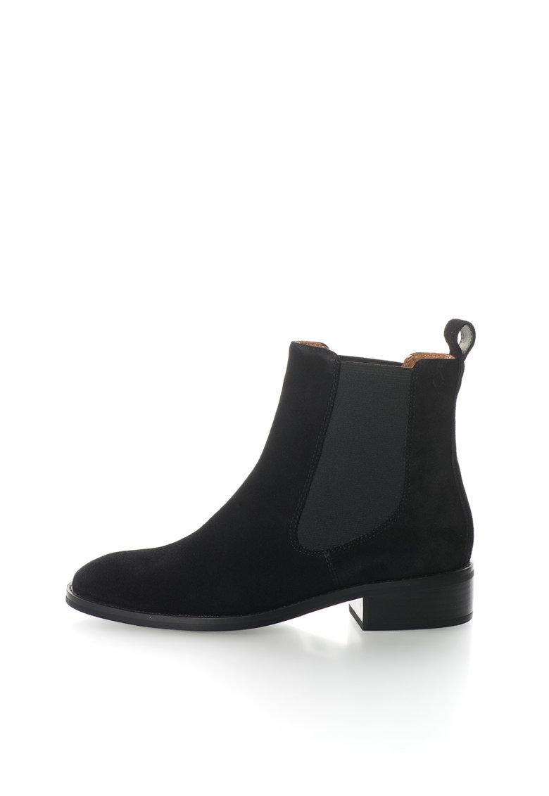 Vagabond Shoemakers Ghete Chelsea negre de piele intoarsa Ava