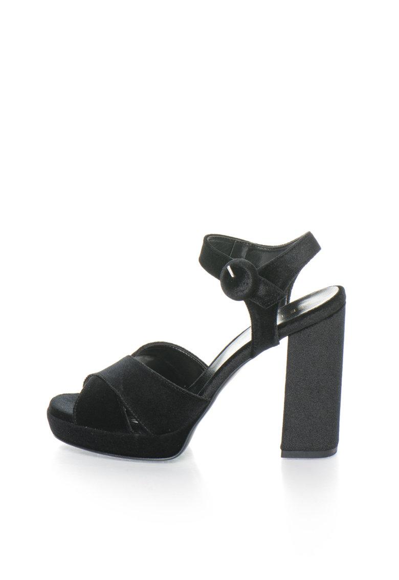 Zee Lane Sandale negre catifelate