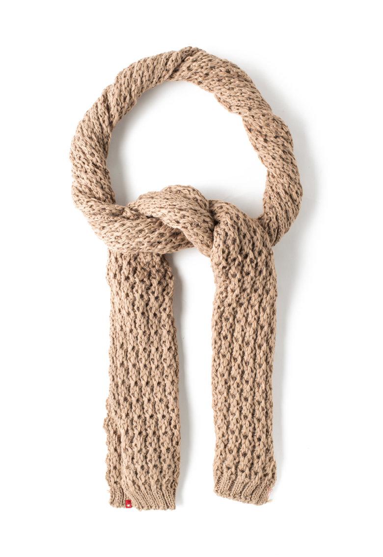 Fular maro deschis tricotat lejer Agueda de la Big Star