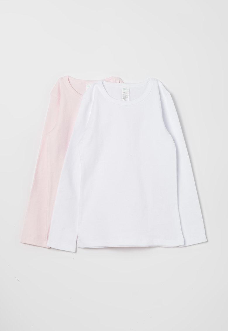 Undercolors of Benetton Set de bluze roz pal cu alb – 2 piese