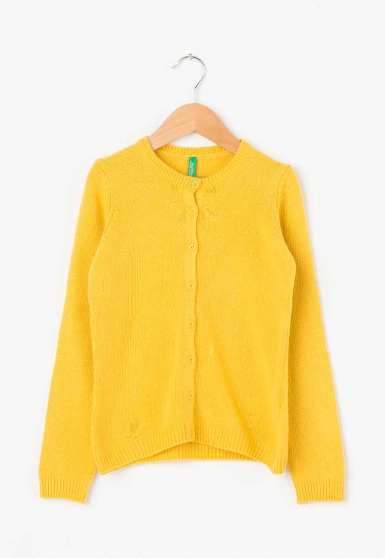 United Colors Of Benetton Cardigan galben mustar