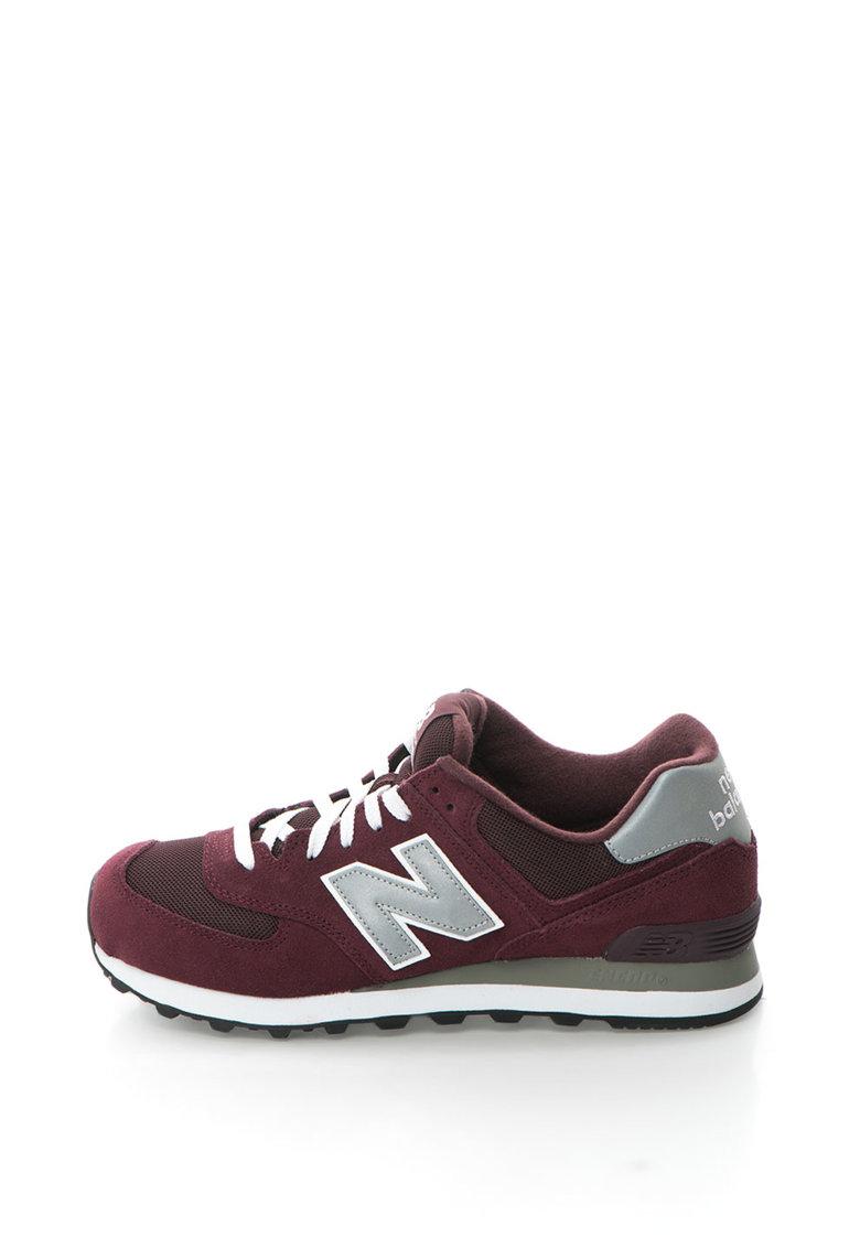 Pantofi sport de piele intoarsa cu inserii de plasa 574 de la New Balance