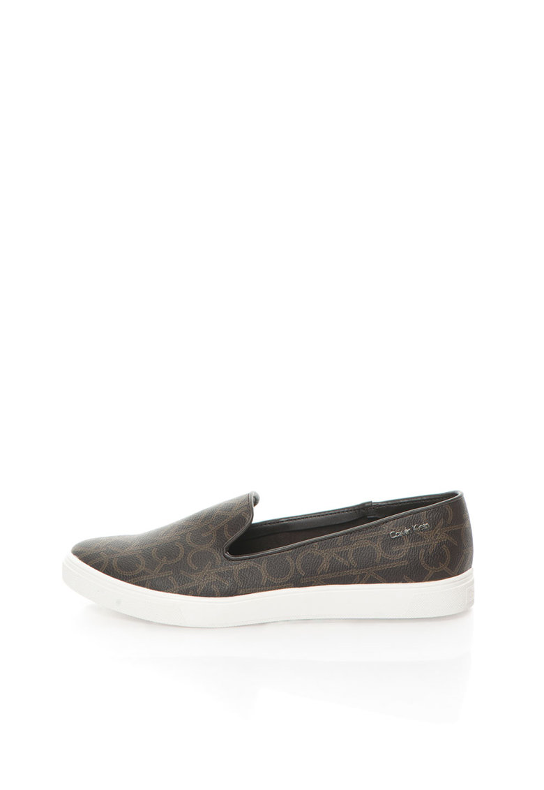 Pantofi slip-on maro cu model logo Hyacinth