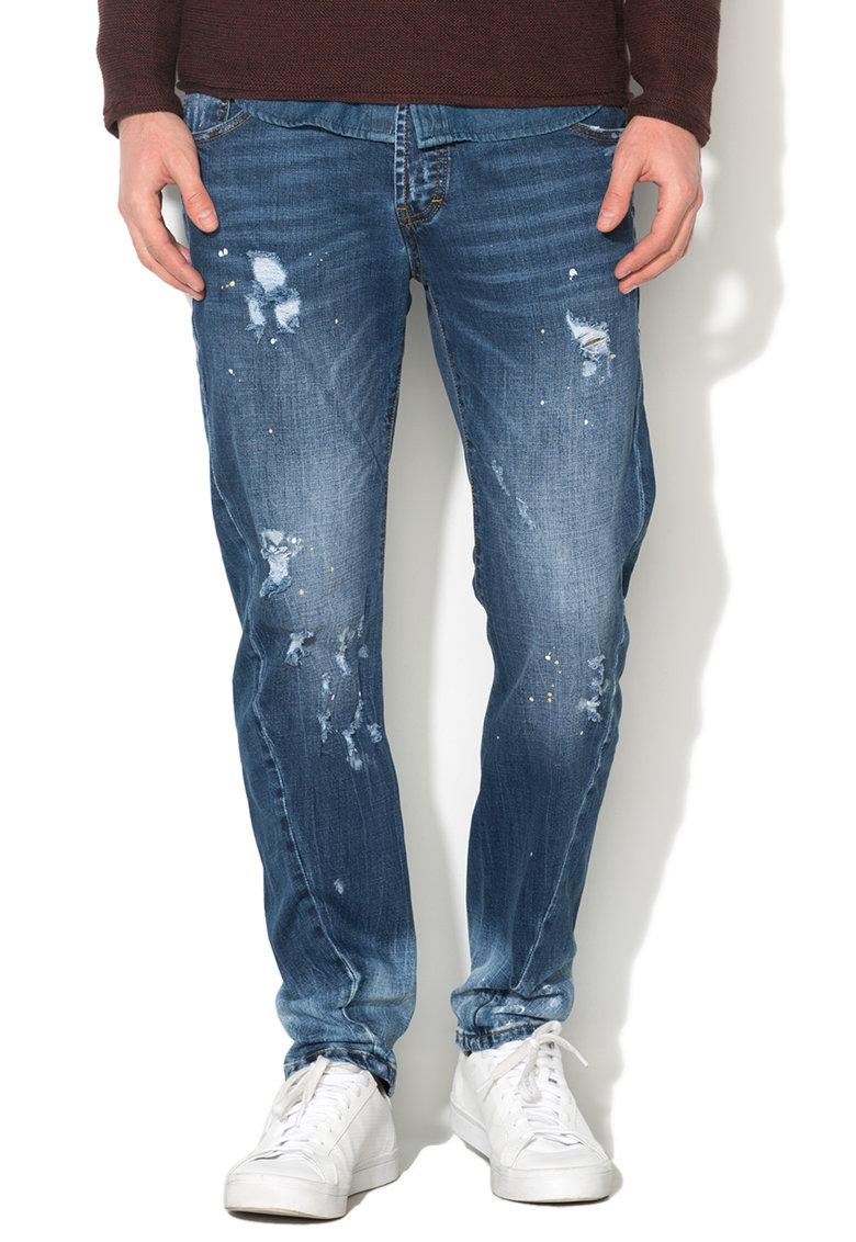 Zee Lane Denim Jeansi albastri cu aspect uzat