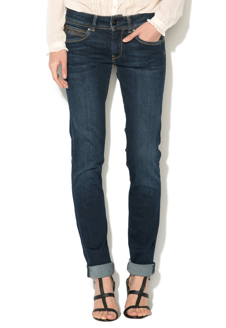 Pepe Jeans London Jeansi albastru inchis slim fit Brooke