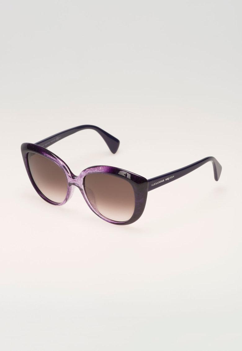 Ochelari de soare violet in degrade de la Alexander Mcqueen