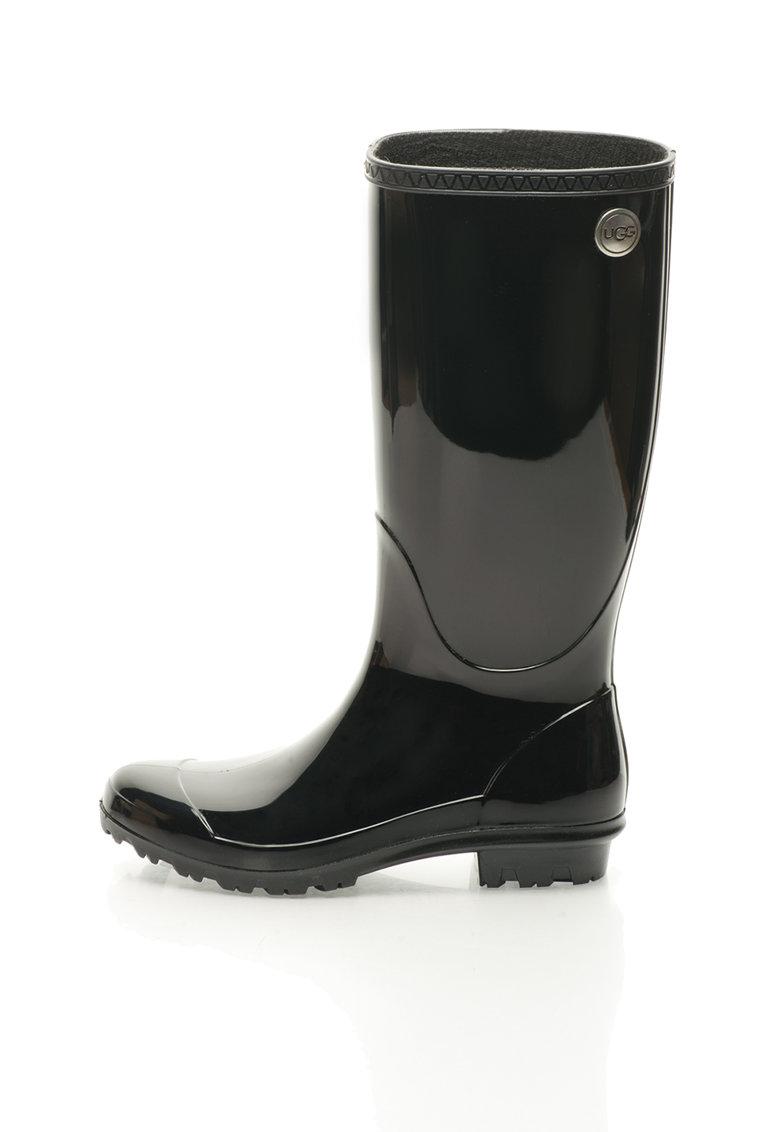 UGG Australia Cizme de ploaie negre lucioase Shaye