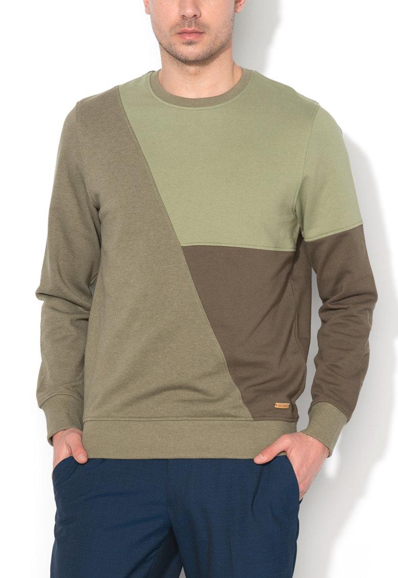 EDC by ESPRIT – Bluza sport verde militar cu decolteu la baza gatului 027CC2J007-360