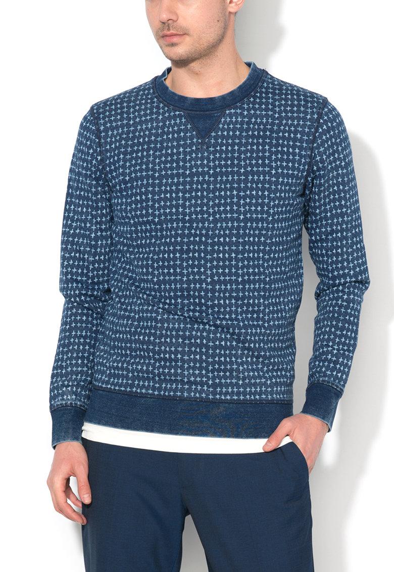Esprit Bluza sport albastru inchis cu model discret