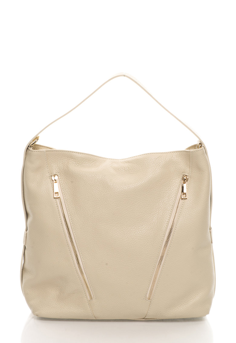 Zee Lane Collection Geanta hobo bej de piele