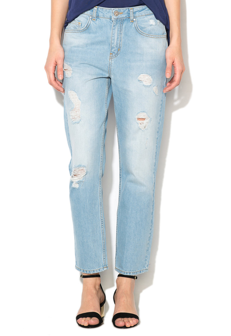 Silvian Heach Collection Jeansi bleu cu aspect deteriorat Jessica