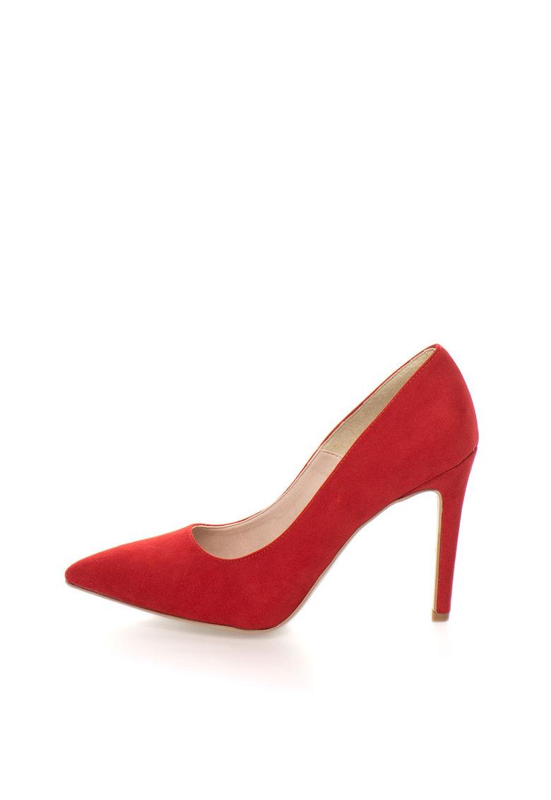 Oakoui Pantofi rosii de piele intoarsa sintetica Miriam