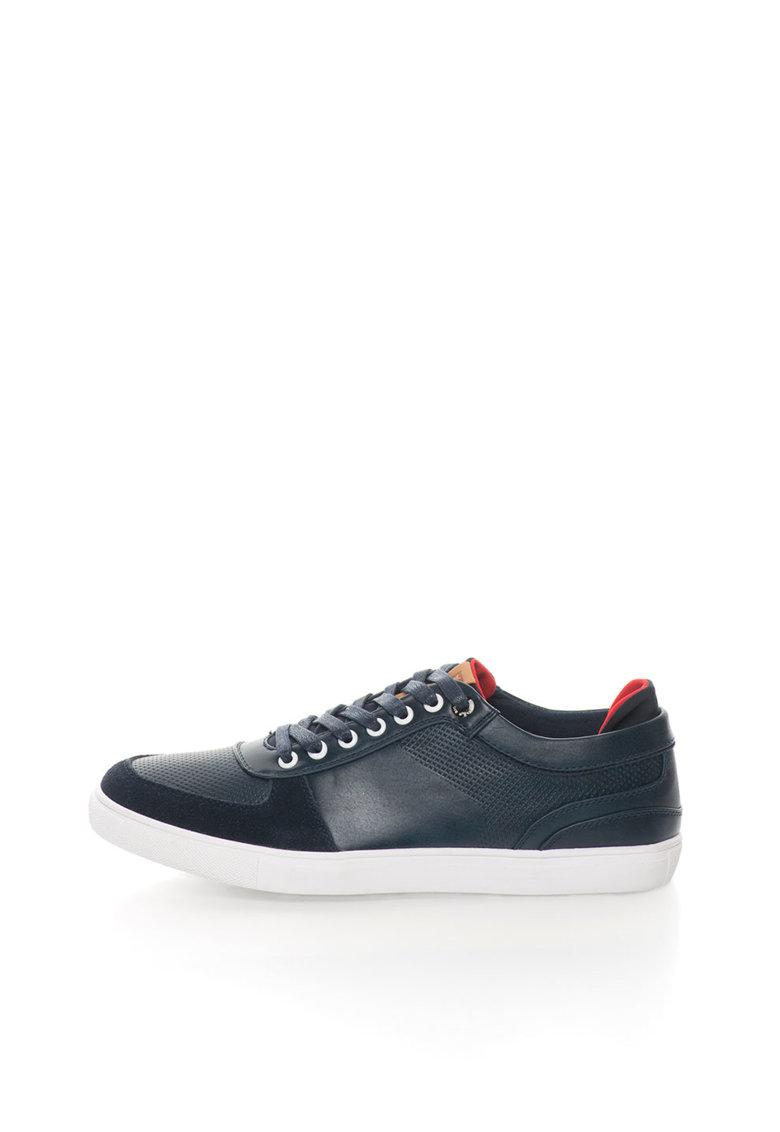 Pantofi casual albastru petrol cu sireturi de la Big Star