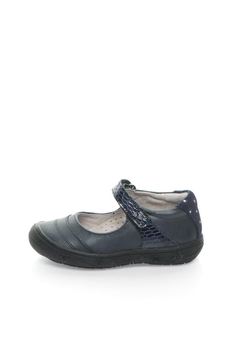 Lea Lelo Pantofi Mary Jane bleumarin inchis de piele