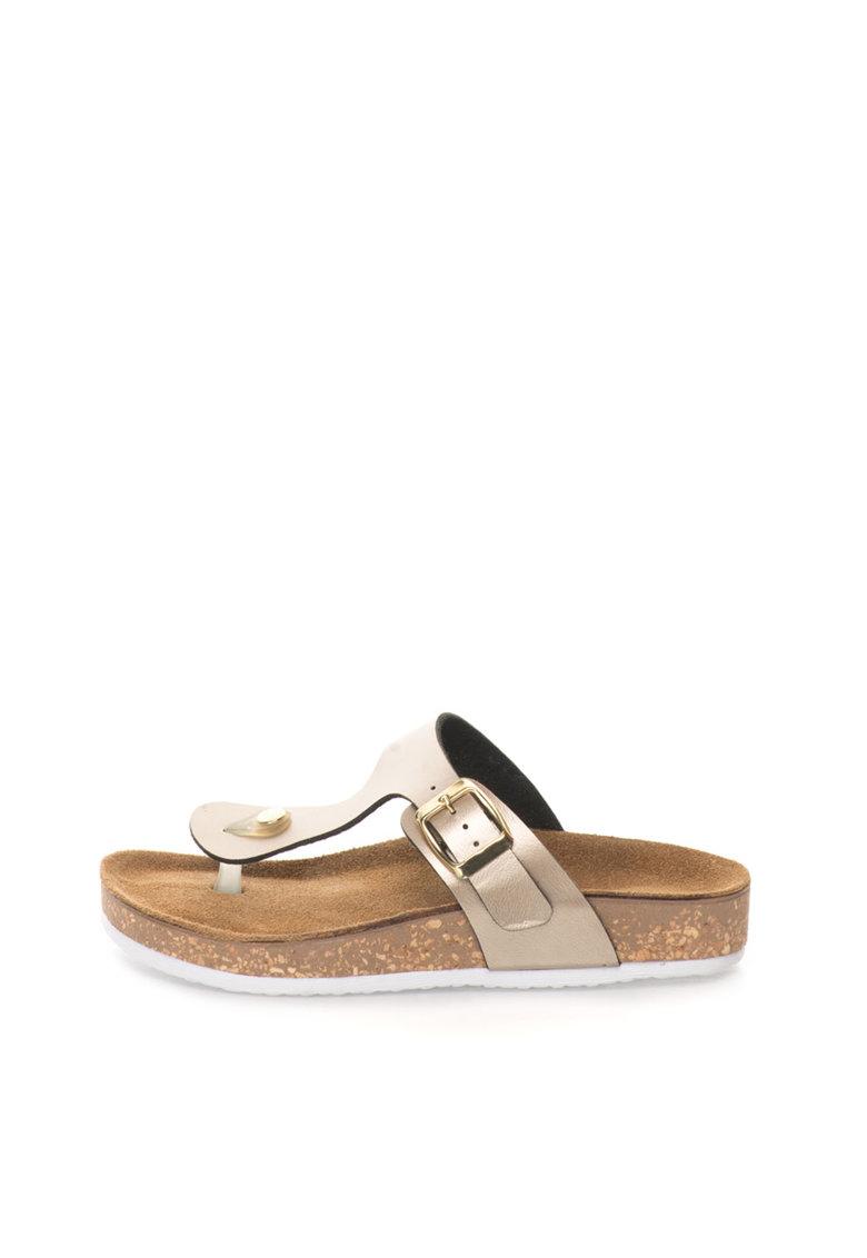 Papuci flip-flop maro bronz