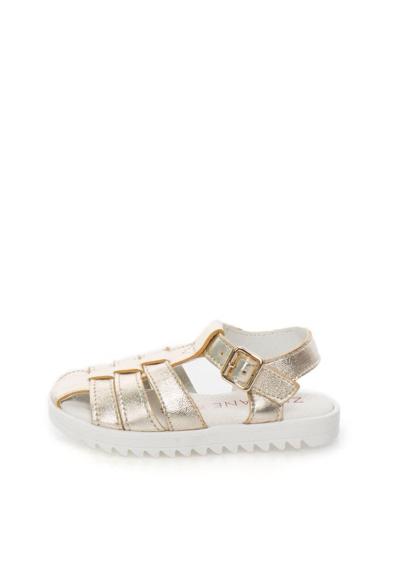 Sandale aurii de piele