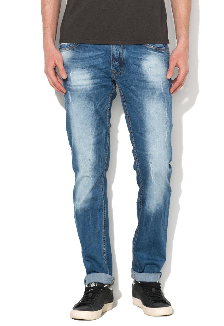 Alcott Jeansi skinny albastri cu aspect decolorat