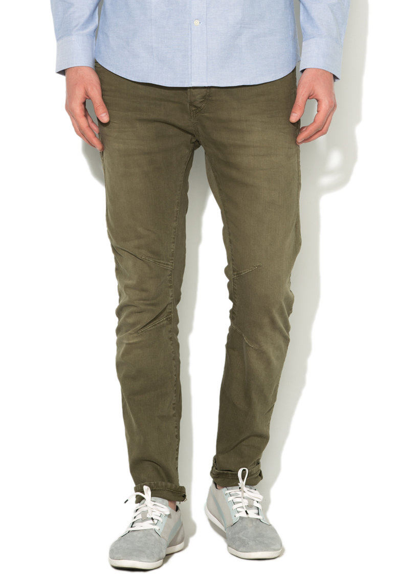 JackJones Pantaloni conici verde oliv Luke