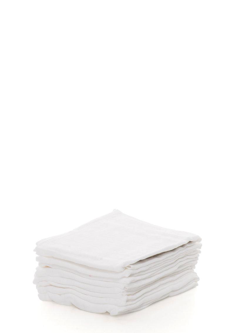 Set de scutece lavabile albe din bumbac – 8 piese de la Pippi