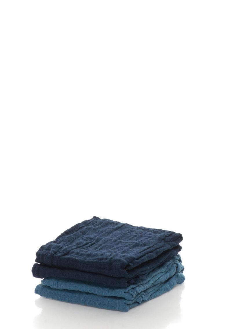 Set de scutece lavabile albastre din bumbac organic – 4 piese de la Pippi