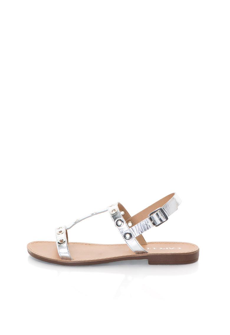 Oakoui Sandale argintii de piele