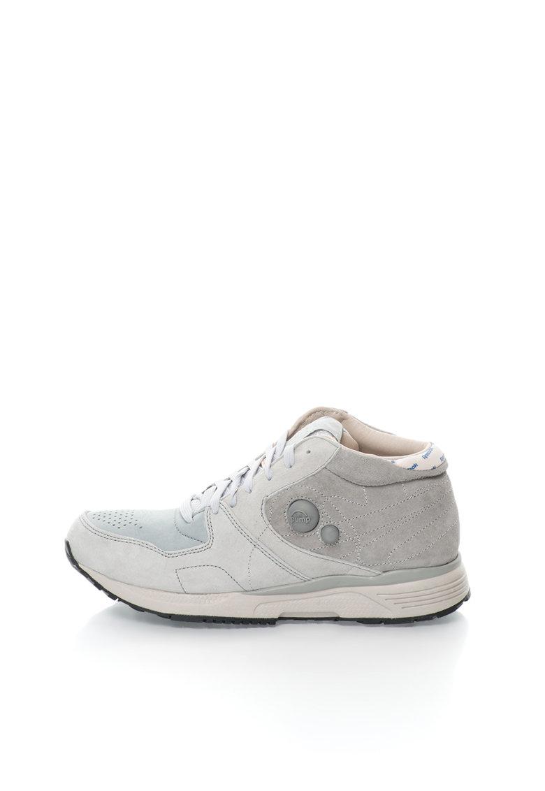 Reebok Pantofi sport mid-high gri de piele intoarsa