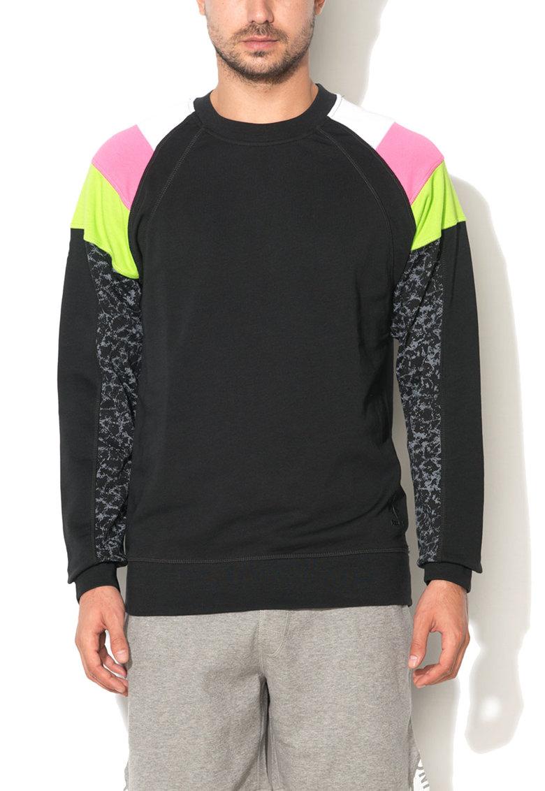 Bluza sport neagra cu insertii