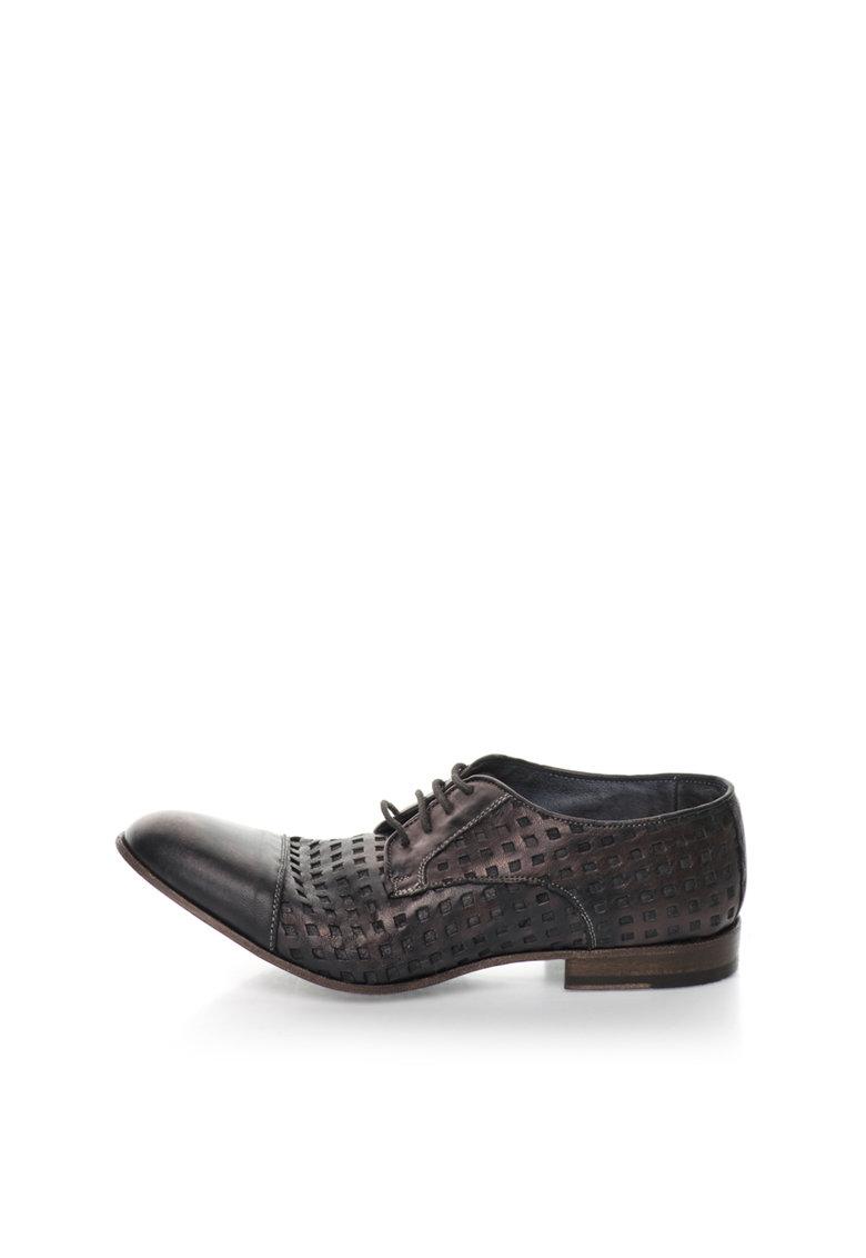 Zee Lane Collection Pantofi maro metalizat cu decupaje Papua