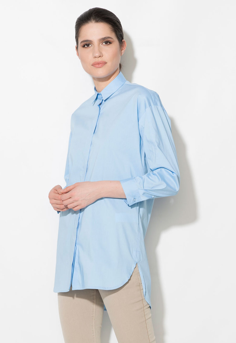 Zee Lane Denim Camasa lunga albastru azur
