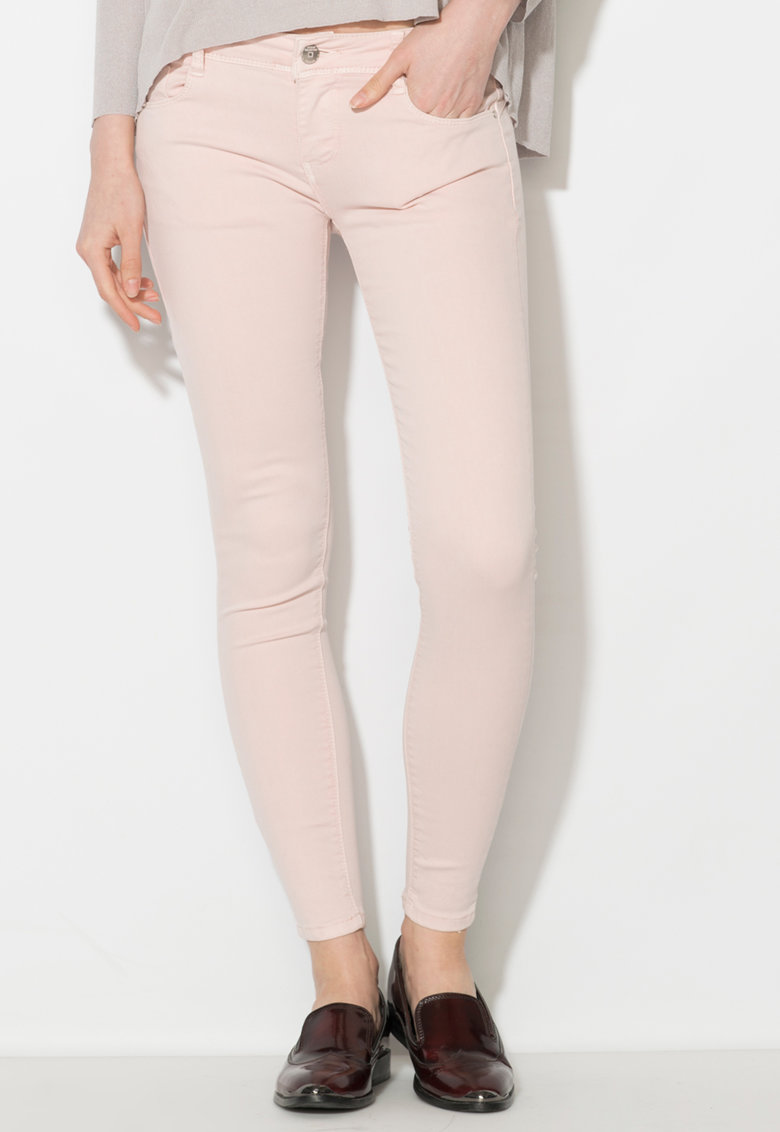 Zee Lane Denim Pantaloni conici roz pa