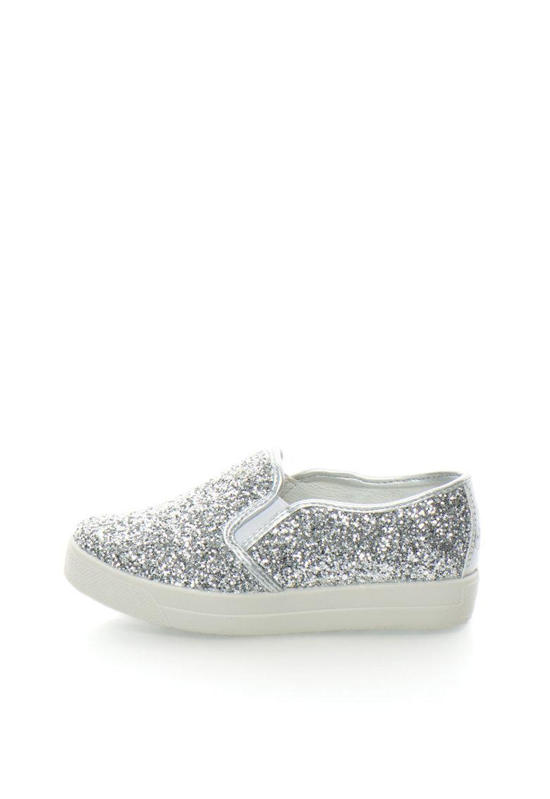 Primigi Pantofi slip-on argintii stralucitori