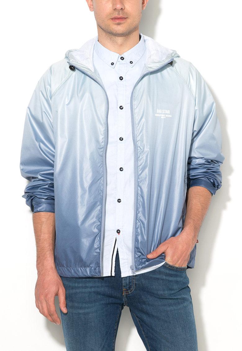 Jacheta usoara albastru in degrade cu gluga Hagan de la Big Star