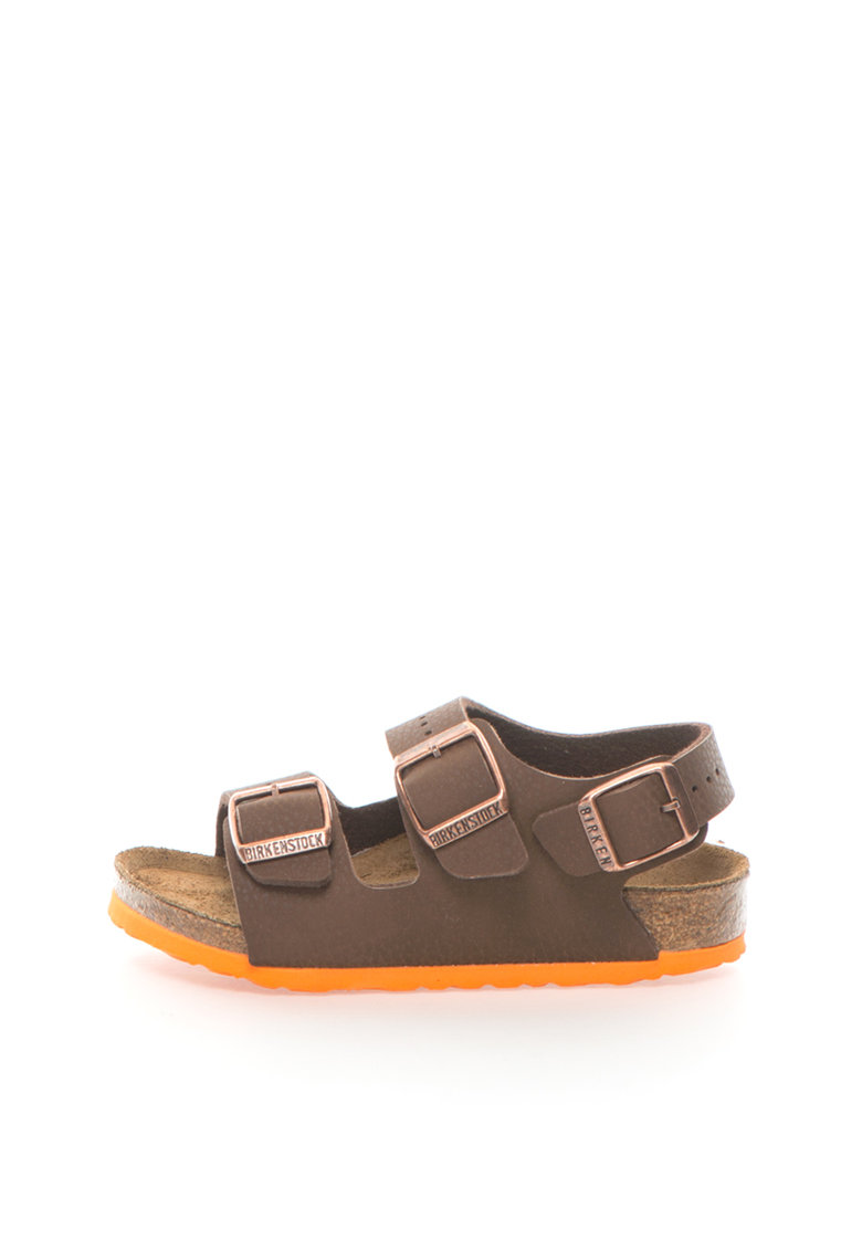Sandale cu calapod ingust Milano de la Birkenstock 35193-DESERT-SOIL-BROWN