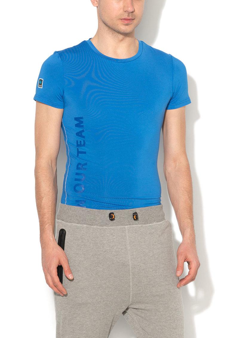 BLEND Tricou sport albastru electric