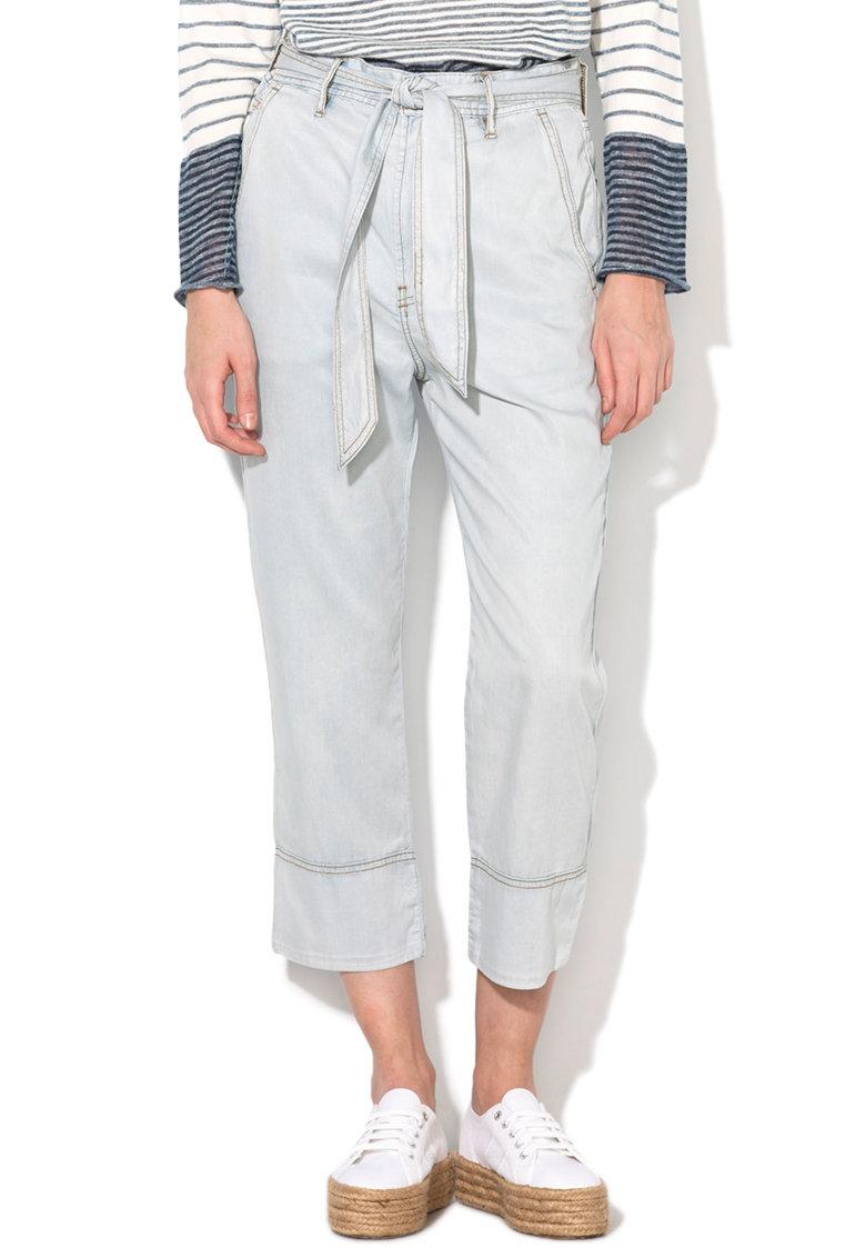 Pantaloni crop bleu De-Jama