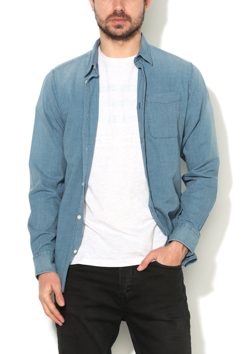 JackJones Camasa slim fit albastra Branson